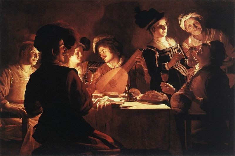 Dinner Party  (Gerrit Van Honthorst)
