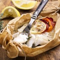 Merluzzo al forno con olive