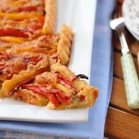 Torta alla senape e peperoni dolci